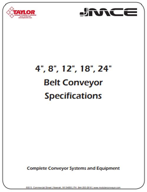 Belt Conveyor Specs