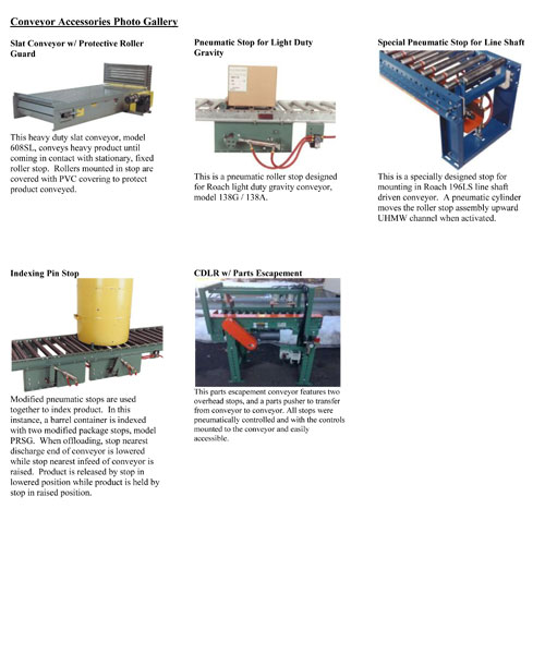 Conveyor Accessories Photo Gallery