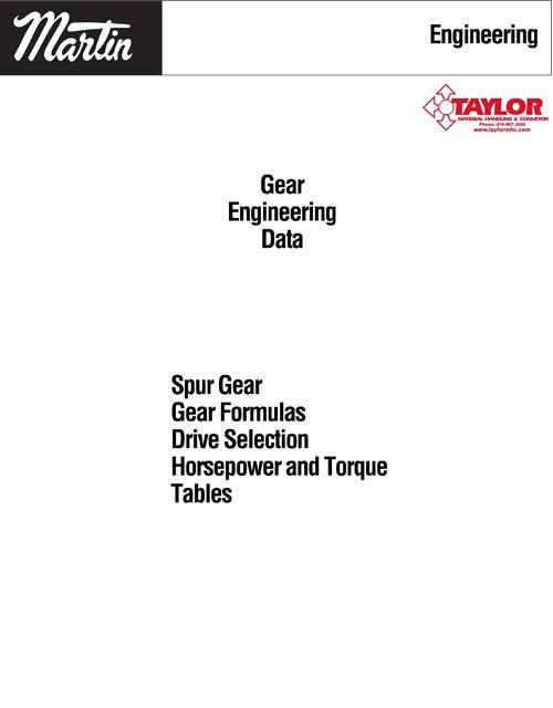 Gear Engineering Data