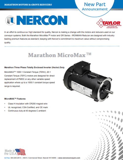 Marathon MicroMax Motors & Grove Reducers