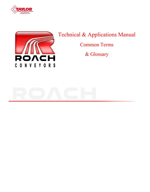 Roach Glossary & Terms