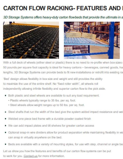 Carton Flow Rack Features & Benefits