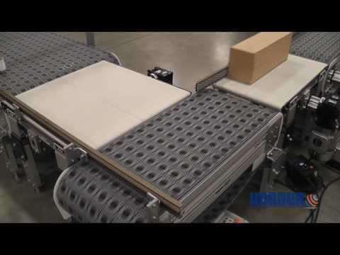 Dorner 3200 Series w/ Intralox Activated Roller Belt