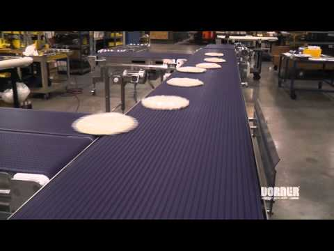 Pizza Transfer on Dorner AquaPruf Conveyors