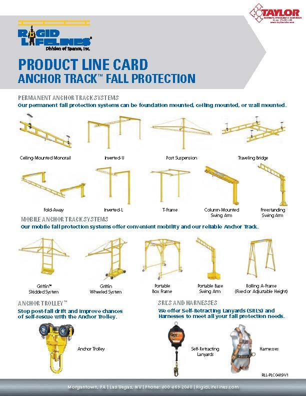 Spanco Rigid Lifeline Full Line Card