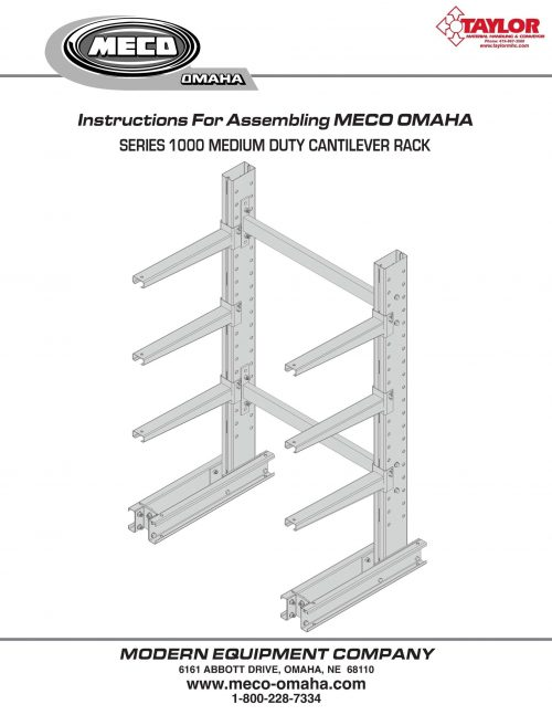 Series 1000 Cantilever Rack Assembly Manual