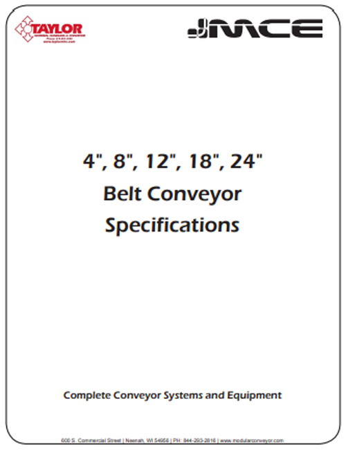 Belt Conveyor Specs