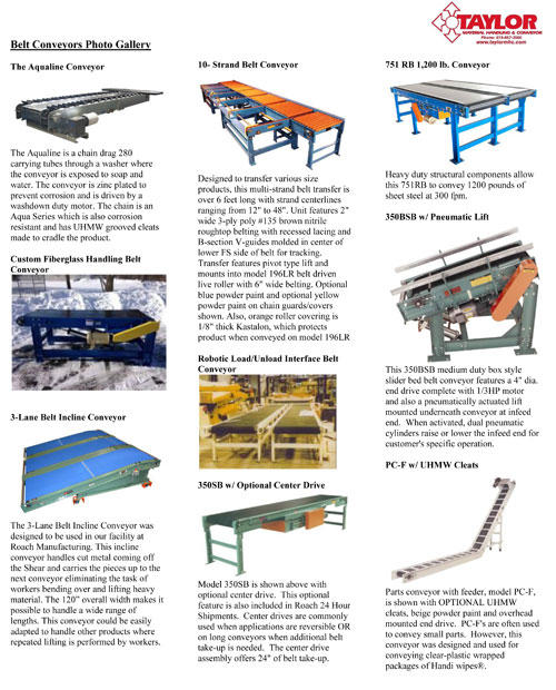 Belt Conveyors Photo Gallery   CDLR / CHA