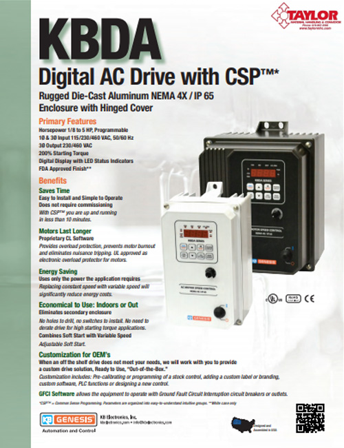 KBDA Digital AC Drive with CSP