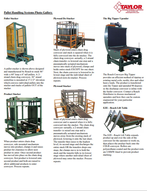 Pallet Handling Systems Photo Gallery
