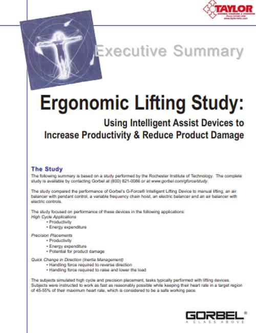 Ergonomic Lifting Study