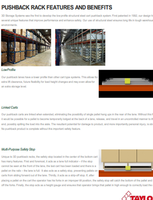 Pushback Rack Features & Benefits