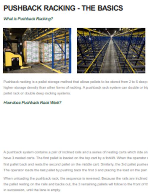 Pushback Rack - The Basics