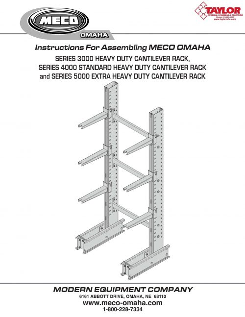 Series 3000-5000 Cantilever Rack Assembly Manual