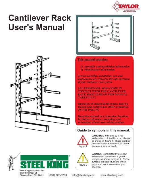 Steel King Cantilever Rack Assembly Manual